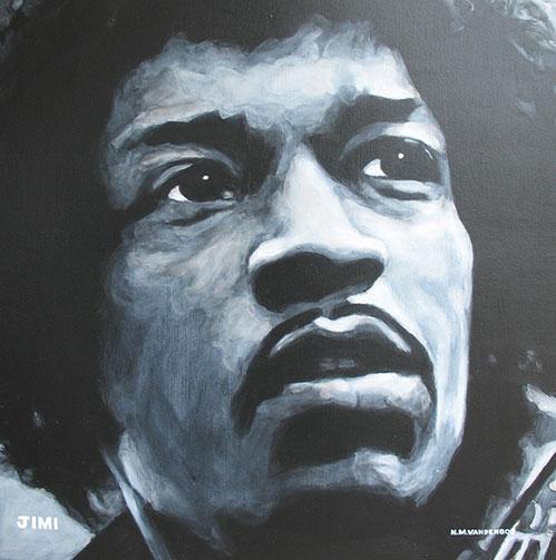 Nate VandenBos Portrait Art As Unique A Fingerprint Jimi Hendrix 2